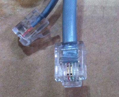 Kabel TK RJ11 Stecker -> RJ11 Stecker, 1, 8m, silber