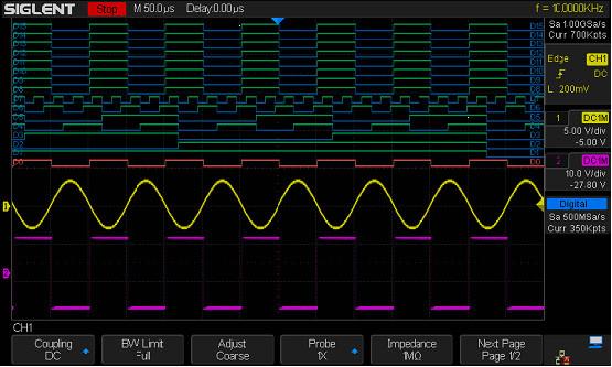 Siglent SDS-1000X-16LA / MSO Funktions - Software für SDS1000X Oszilloskop