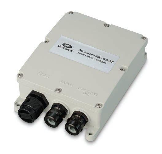 Microsemi Outdoor 1-port 30W , 10/100/1000 BaseT Midspan , AC Input