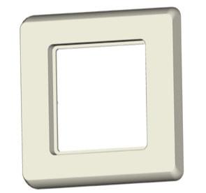 Keystone,Modulträger; Abdeckrahmen 80x80, Reinweiss,