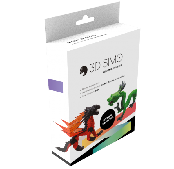 3Dsimo Dragon Creative Box - Drache