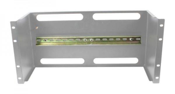 """ALLNET 19""""zbh. Gerätehalter für Hutschiene/DIN-Rail Geräte, T150mm/5HE, Lichtgrau, Frontmontage,"""