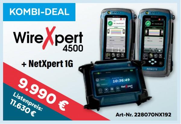 softing(Psiber) NetXpert 4500+XG, Promo bis 15.1.2020, Mess-Menü, Kombi-Deal