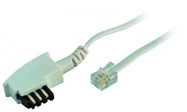 Kabel TK TAE-Verbindungskabel 6 m, TAE-F/RJ11, weiss