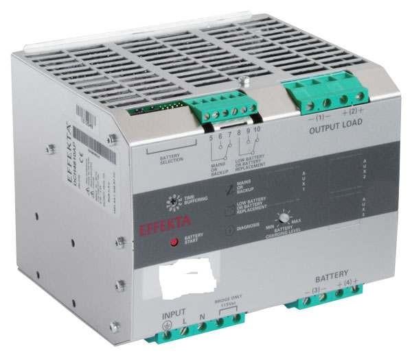 Effekta USV, AC/DC, 48V/10A/480W Hutschiene(DIN Rail), ohne Akku, DCH 4810 AP