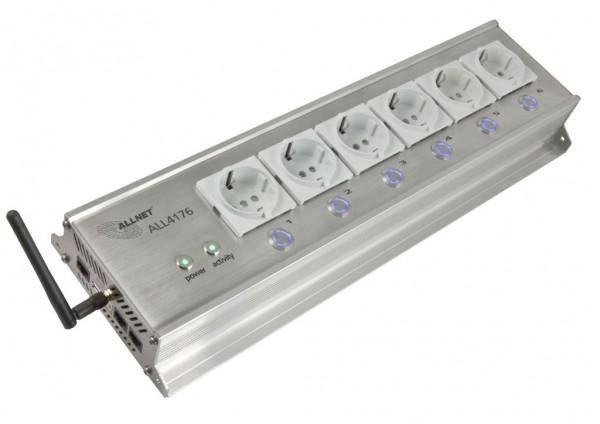 """ALLNET MSR IO Zentrale Schaltsteckdosenleiste 6-fach inkl. Messgerät für Desktop & 19"""" Montage """"ALL4176"""" für IP Gebäude Automation"""