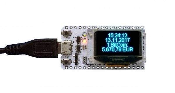 ALLNET 4duino IoT WLAN Display - ESP32 Modul mit 4 Zeilen Display