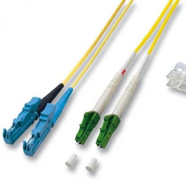LWL-2-Faser-Patchk. 10mtr.LC(APC 8)-E2000, 9/125um,