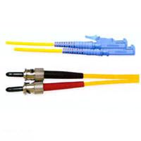 LWL-2-Faser-Patchk. 3mtr.ST/E2000, 50/125um, geradeschliff