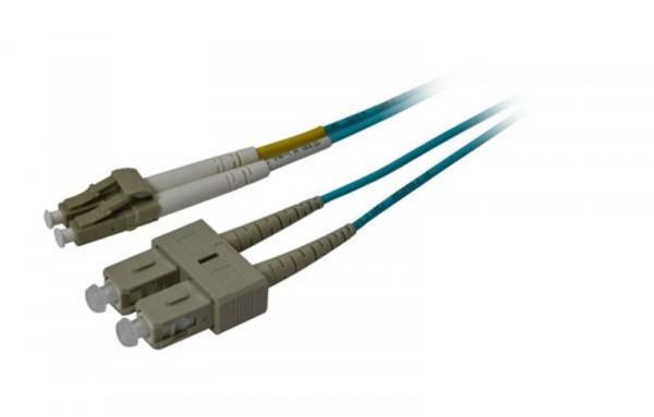 LWL-2-Faser-Patchk. 0.5mtr.LC-SC, 50/125um, OM3, AD=3mm, Synergy 21,