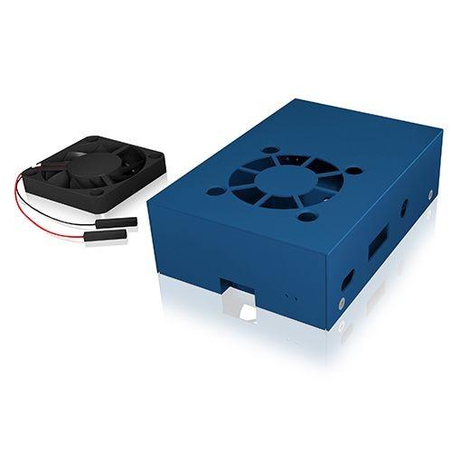 ICY Box Schutzgehäuse für Raspberry Pi® 2 und 3, blau, IB-RP105-Bl,