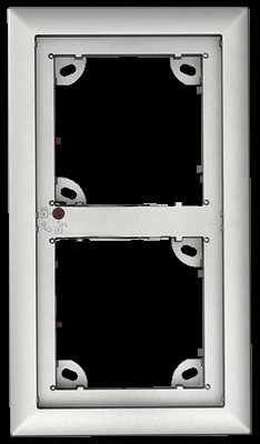 Mobotix 2er Rahmen, silber STD