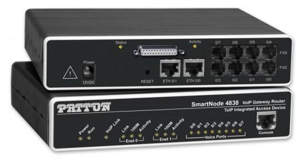 Patton SmartNode 4834, 2 FXS & 2 FXO VoIP IAD, X.21