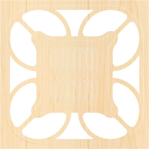 Airwood Holzrahmen der Cubee Drohne / Wood Frame