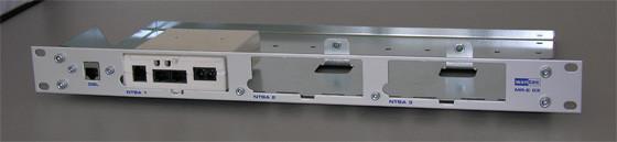 """Wantec Montagewinkel 19"""" 1HE NTBA Eco MR-E 03 für 3 NTBA´s (kleine Ausführung)"""