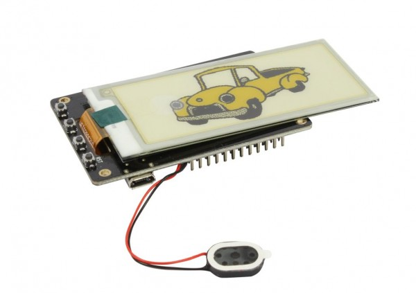 "ALLNET 4duino IoT WLAN ePaper/eink/e-ink Display white/yellow/black - ESP32 Modul 2,9"" E-Paper ALL-ESP32-EP-2,9-BWY"