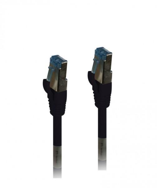 Patchkabel RJ45, CAT6A 500Mhz, 3m, schwarz, S-STP(S/FTP),PUR(Außen/Industrie), Synergy 21