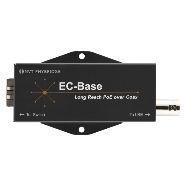 Phybridge Switch CLEER PoE over Coax zub. EC-Base: Long Reach PoE++ extender for EoC