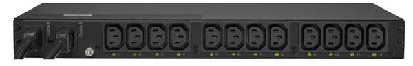 CyberPower PDU ATS, Switched, 230V/10A, 1HE, 12xC13 Ausgang, 2xC14 Eingang,