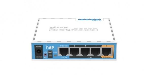 MikroTik home Access Point RB951Ui-2nD, hAP, 2.4 GHz, 5x 10/100, USB
