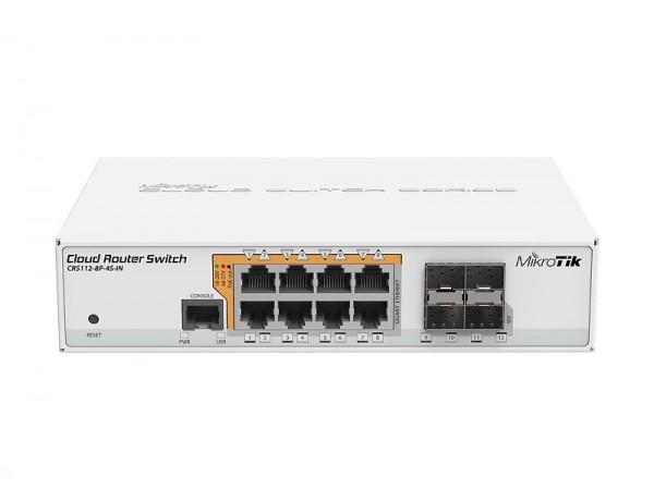 MikroTik Cloud Router Switch CRS112-8P-4S-IN, 8x Gigabit, 4x SFP, POE