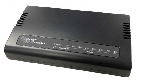 """ALLNET Switch unmanaged 8 Port Fast Ethernet / 8x LAN / Lüfterlos / """"ALL8089v1"""""""