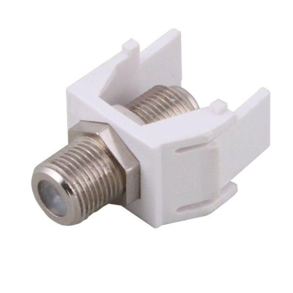 Keystone, Modul, mit F-Verbinder weiß