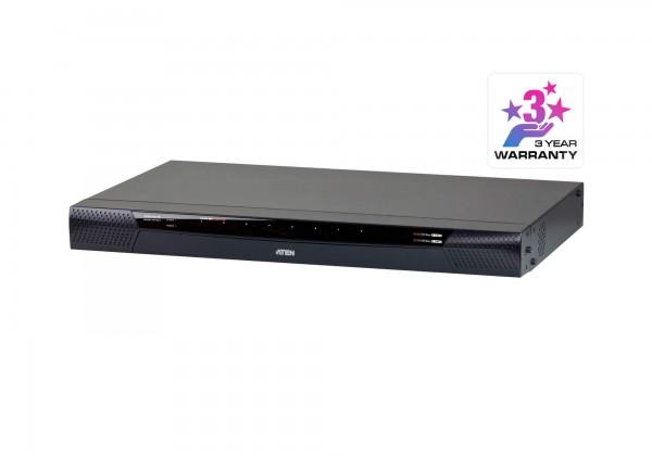 Aten KVM-Switch 8-fach VGA/USB/TP, LAN(IP-fähig), 1xlocal/2xLAN/4x weitere Remote(Modem, Network)