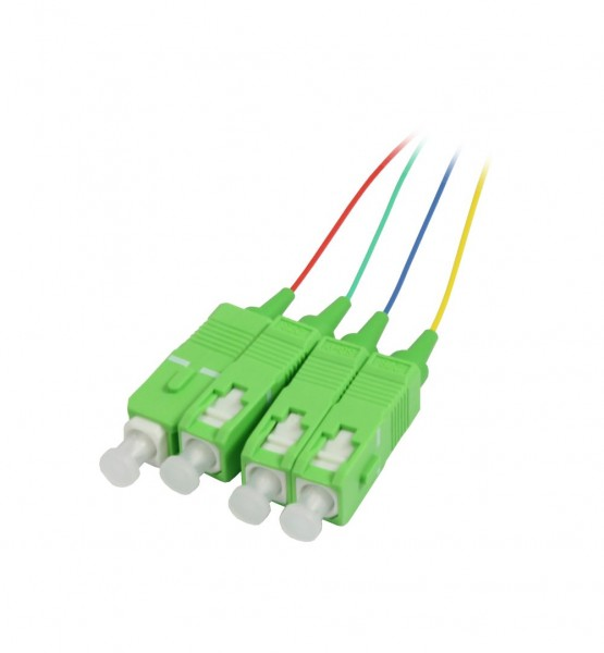 LWL-Pigtail-SC(APC) 9/125u, 1,5mtr. OS2, 12-Pack, farbig, Synergy 21,