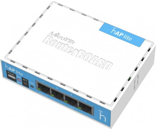 MikroTik home Access Point RB941-2nD, hAP lite, 2.4 GHz, 4x 10/100