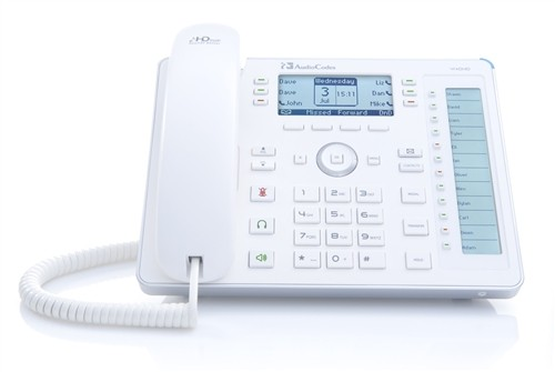 AudioCodes SFB 440HD IP-Phone PoE GbE white