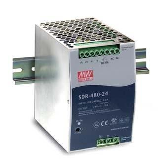 Mean Well Netzteil - 48V 480W Hutschiene, schmale Bauform