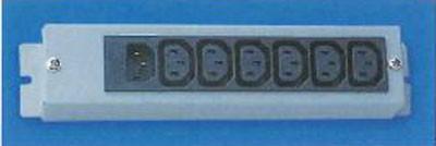 Knürr Steckdosenleiste, 10xKaltgeräte(C13)->Kaltgeräte(C14),