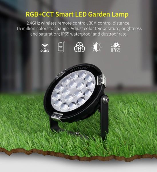 Synergy 21 LED Garten Lampe 9W RGB-WW mit Funk und WLAN IP65 230V *Milight/Miboxer*