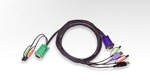 Aten Verbindungskabel SPHD,Audio,3m,USB