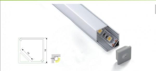 Synergy 21 LED U-Profil 200cm, ALU005 weiss