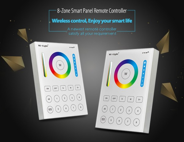 Synergy 21 LED Fernbedienung Smart Panel RGB-WW (RGB-CCT) 8 Zonen *MiLight*
