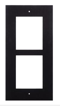 2N Zubehör Frontblende Unterputzrahmen schwarz (2 Module)
