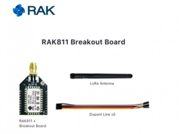 RAK Wireless RAK811 Breakout Board small and Open Source Development Board, 868/915MHz, Quickly Test LoRa Module, 3.3V, SMA + IPX
