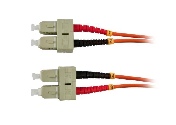 LWL-2-Faser-Patchk. 5mtr.SC-SC, 50/125um, OM2, AD=3mm, Synergy 21,