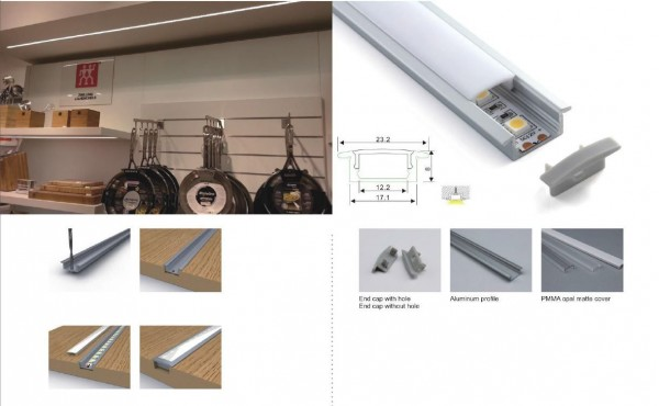 Synergy 21 LED U-Profil 200cm, ALU001-R weiss