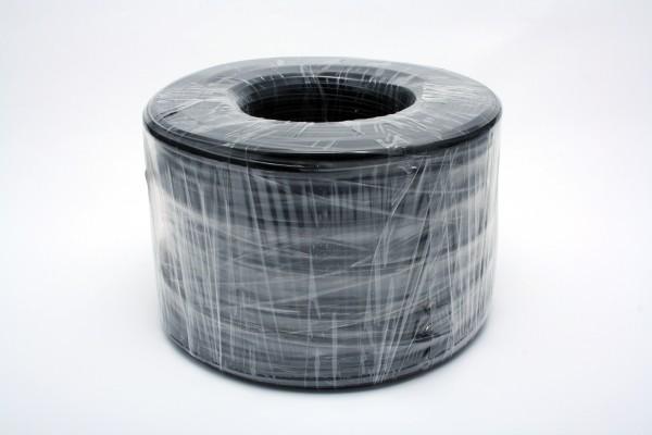 Kabel TK Flach 4 pol. 100m SCHWARZ, Flex, Flachkabel, Ring,