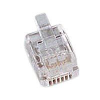 Kabel TK TAE RJ12-Stecker, 6P6C,100-Pack für Rundkabel