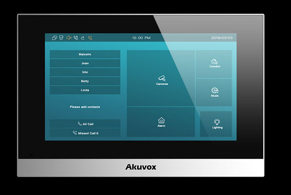Akuvox TFE zbh. C315W *silver-standard* Indoor Touch Screen Android *POE* *WIFI*