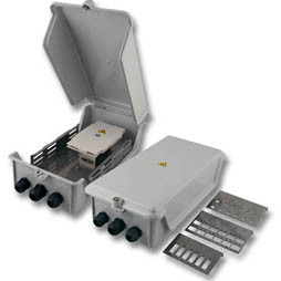 LWL-Wandverteiler Spleissgehäuse-Set IP54,