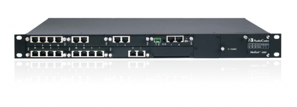 Audiocodes Mediant 1000B with 7 GE interfaces and a single AC power supply
