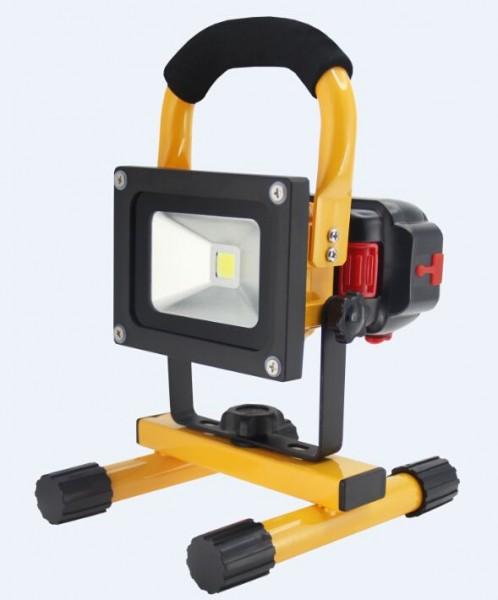 Synergy 21 LED AKKU Baustrahler 10W gelb/kaltweiß slider