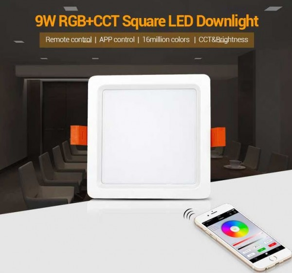 Synergy 21 LED light panel square 9W RGB-WW mit Funk und WLAN *MiLight*