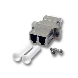 LWL-Kupplung, LC-Buchse/LC-Buchse, 50/125u Multimode, duplex, Metall