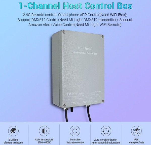 Synergy 21 LED Subordinate Controller 1-Channel Host Control Box IP66 *Milight/Miboxer*